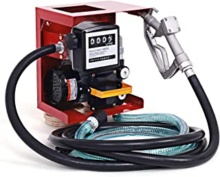 Goplus Electric Diesel Oil Fuel Transfer Pump w/Meter, 13ft Hose & Nozzle, 110V