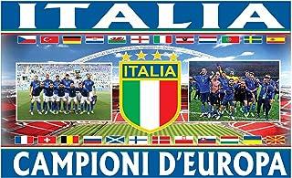 Drapeau géant de l'Italie (Italie) des champions d'Europe (1,5 x 0,9 m et 100 % polyester)