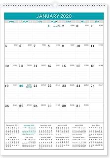 2020 Calendar - Wall Calendar 2020 with Julian Date, 12