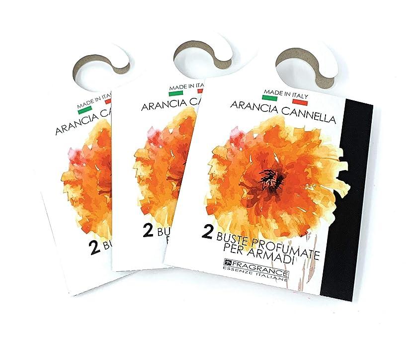 公不実免疫MERCURY ITALY 吊り下げるサシェ(香り袋) ACQUARELLO オレンジシナモンの香り/ARANCIA CANNELLA 2枚入り×3パック [並行輸入品]