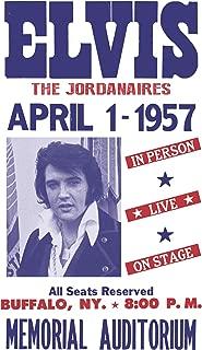 "Elvis Presley & The Jordanaires - Buffalo, New York 13""x22"" Vintage Style Showprint Poster - Concert Bill - Home Nostalgia Decor Wall Art Print"
