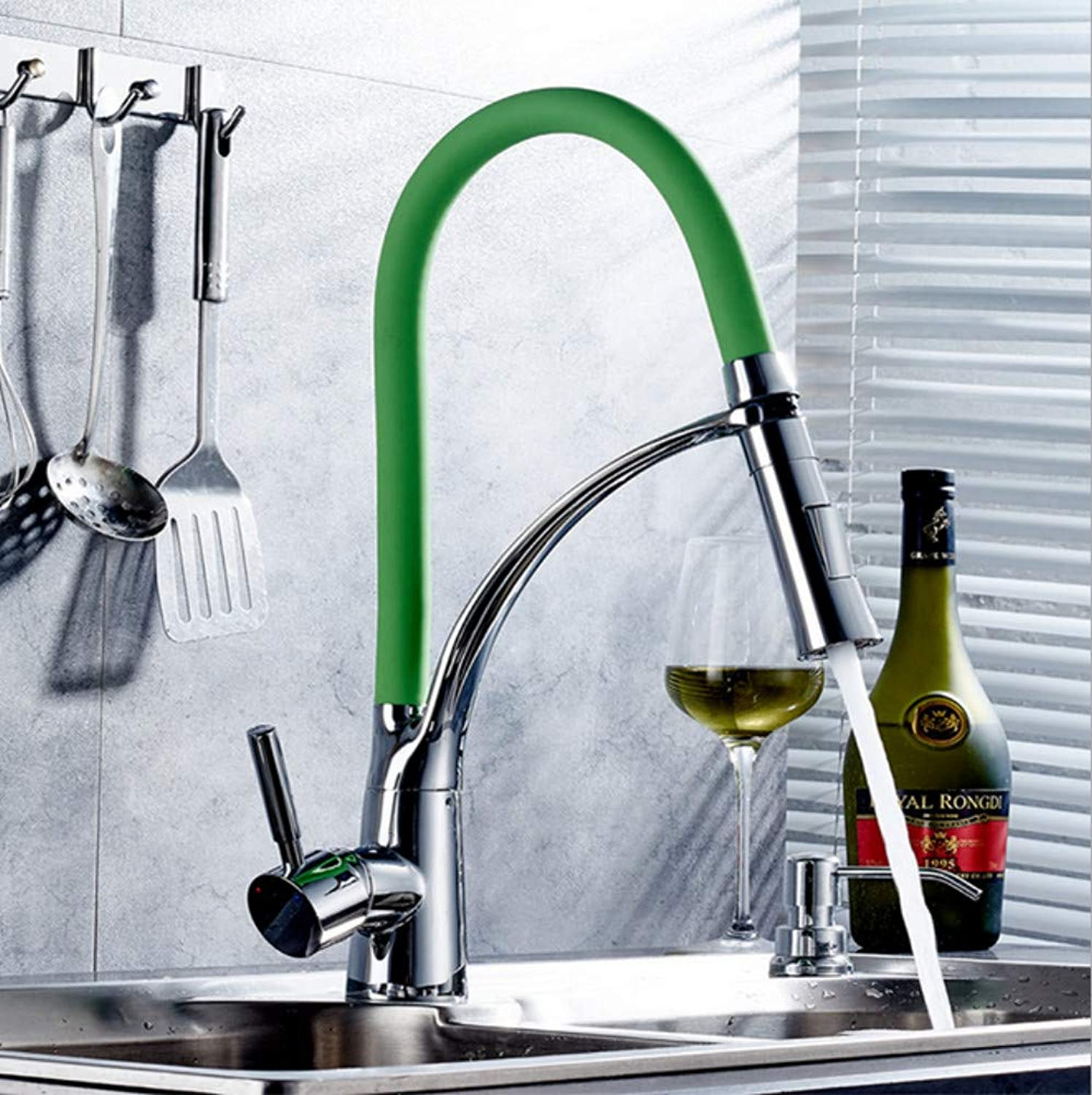 Xiujie Faucet Green Kitchen Faucet Pull Faucet Single-Connected greenical Multi-Function Household Kitchen Faucet