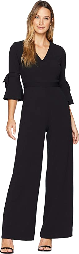 Jumpsuit with Bow Sleeve