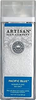 SaltWorks Pacific Blue Kosher Flake Sea Salt Artisan Shaker Jar, 3 Ounce