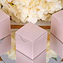 BalsaCircle 100 pcs 2-Inch Blush Wedding Favor Boxes for Wedding Party Birthday Candy Gifts Decorations Supplies Wholesale