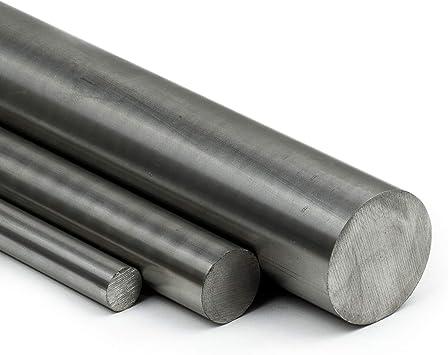 20cm Edelstahl Rundstab VA V2A 1.4301 blank h9 /Ø 50 mm Zuschnitt L: 200mm
