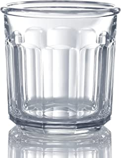 Luminarc N0679 4 Piece Double Old Fashioned Working Glass Set, 14 Ounce, Set of 4, Clear