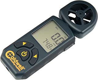 Caldwell Cross Wind Professional Wind Meter with Multiple Wind Readings, LCD Backlight and Lanyard for Long Range, Shooting and Hunting