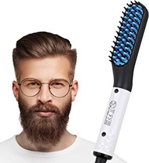 Electric Beard/Hair Straightener Brush Comb, Hot Tools Hair Flat Curling Iron, Fast Shaping for Beard Grooming And Hair Styling for Men