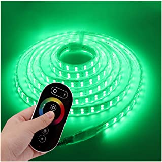 XUNATA 16m 5050 RGB LED Strip + RF Touch Remote Control Kit, IP67 Waterproof Rope Light Riboon for Indoor Outside Home Com...