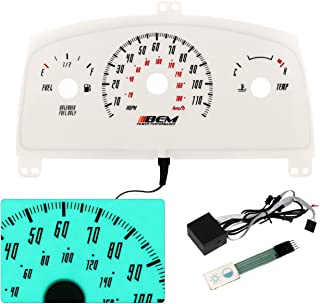 Chevy Cavalier Indiglo Glow Gauge Face Tachometer dash Cluster MT Manual Temp Fuel Upgrade Racing Performance