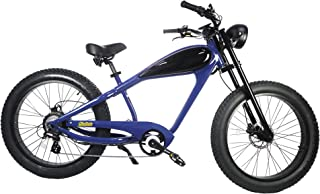 CIVI BIKES Vintage Electric Bike Fat Tire Sport Bicycle 750W café Racer 7-Speed Gear 48V Battery with Max Speed to 28 MPH