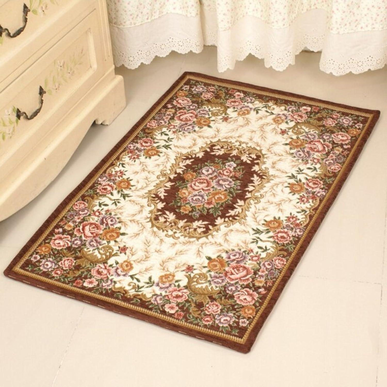 European-Style Floor mats Indoor mat Bedroom Living Room Kitchen Bathroom Non-Slip Water-Absorption mat-R 90x140cm(35x55inch)