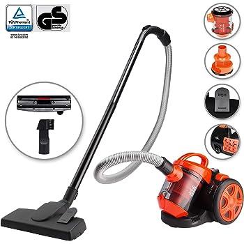 Deuba Aspiradora multi ciclón sin bolsa clase A cap máxima de 3L Naranja y Negro limpieza interior suelos alfombras: Amazon.es: Hogar