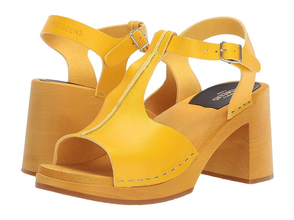Vintage Sandals | Wedges, Espadrilles – 30s, 40s, 50s, 60s, 70s Swedish Hasbeens Stitchy Sandal YellowYellow Womens Dress Sandals $239.00 AT vintagedancer.com