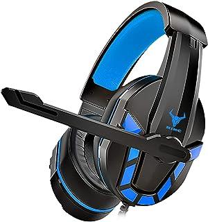 Kikc PS-4 Auriculares Gaming para PS4,Xbox One, Auriculares de 3,5 mm con Micrófono Flexible y Control de Volumen para PC,...