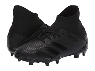 adidas Kids Predator 20.3 FG J Soccer (Little Kid/Big Kid) (Black/Solid Grey) Kids Shoes
