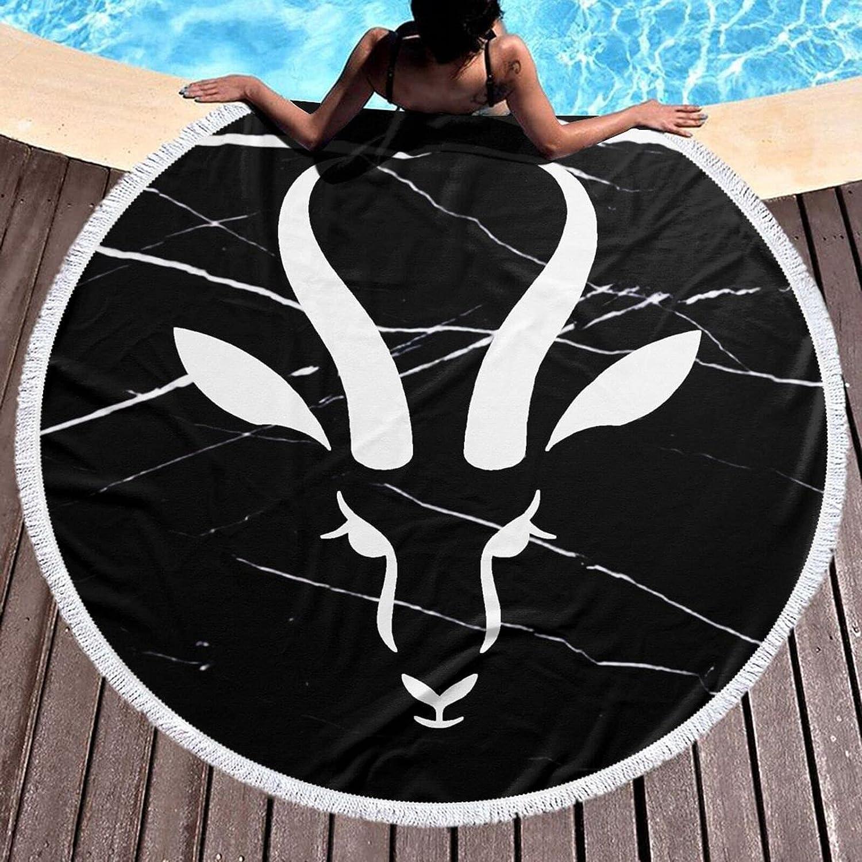 El Paso Mall Springbok Max 54% OFF Round Beach Towel 59 Tablecloth Pi Cotton Inch Blanket