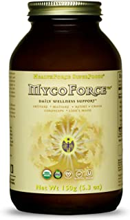 HealthForce SuperFoods MycoForce Immunity Powder - 150 Grams - Shiitake, Maitake, Reishi & Chaga Mushroom Supplement - Imm...