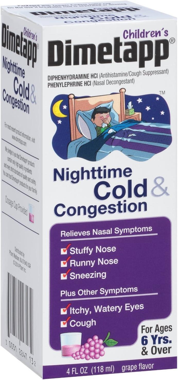 Dimetapp Children's Liquid Cold Congestion Max 78% OFF Count Industry No. 1 3