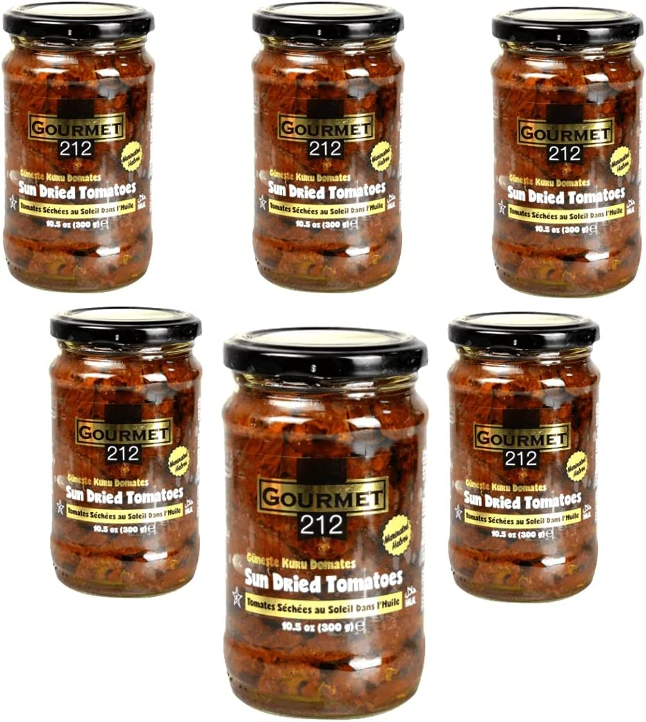 Gourmet212 Sun Dried Tomatoes Marinated in Oil 10.5 Ounces | Wit
