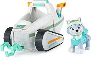 Paw Patrol, Everest's Snow Plow Vehicle with Collectible Figure, for Kids Aged 3 and Up, Multicolor