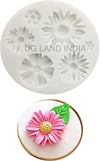 UG LAND INDIA Flower Cake Fondant Mold,Daisy Flower Flower Silicone Mold,Sunflower Silicone Candy Making Tray, Chocolate S...