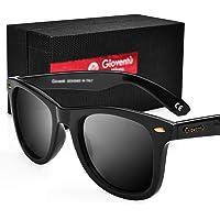 Giovent Unisex Polarized Sunglasses (Black)