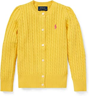 Little Girl's Cable-Knit Cardigan, Yellow