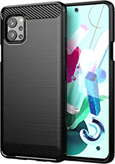 Wuzixi Case for LG Q92 5G.Soft silicone sleeve design, shockproof and durable, Cover Case for LG Q92 5G.Black