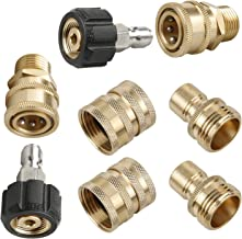 Sooprinse Pressure Washer Adapter Set, Quick Disconnect Kit, M22 Swivel to 3/8'' Quick Connect, 3/4