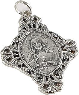 Desconocido Colgante Plata Sagrado corazón de Jesús 40mm
