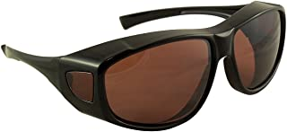 Sun Shield Fit Over Sunglasses with Blue Blocker HD Driving Lens - Wear Over Prescription Glasses