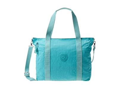 Kipling Asseni Tote Bag (Seaglass Blue) Handbags