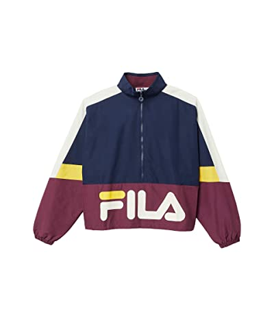 Fila Reid Track Jacket (Peacoat/Prune/Turtle Dove/Spectra Yellow) Men