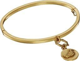 Bangle with Magnetic Closure and Bird Charm