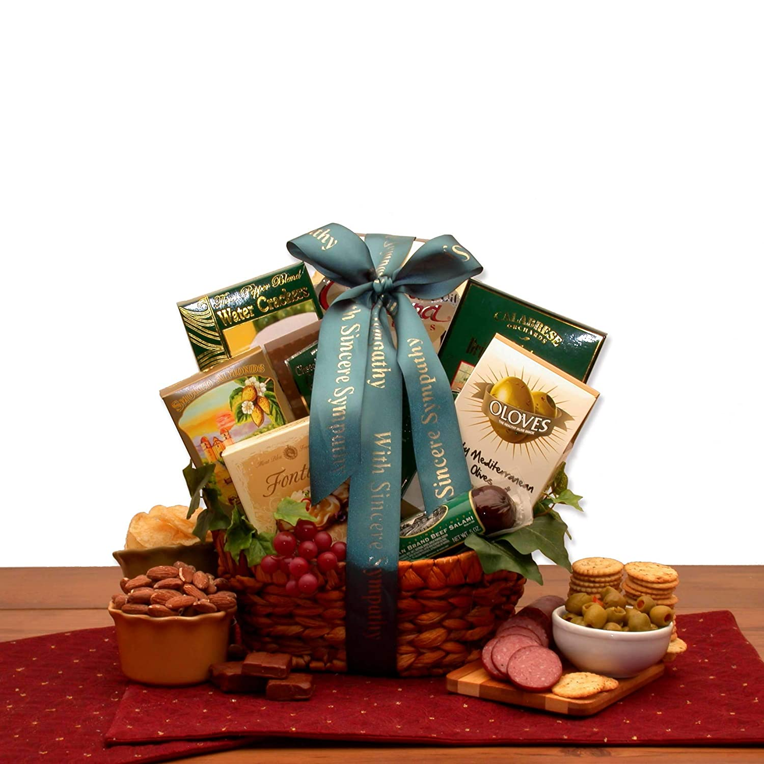 Free 1-3 Day Delivery - In Loving Memory Sympathy Gift Baskets