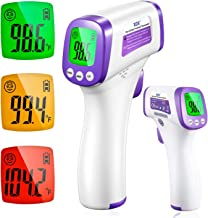 XDX Digital Infrared Thermometer for Adults, Non Contact Touch with LCD Display Color Screen, Temperature Reading for Fore...
