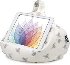 iPad Pillow & Tablet Stand - Securely Holds Any Size Tablet, eReader or Book Upto 12.9 inches, Hands Free Comfort at Any Angle on Any Surface - Bees, by iBeani