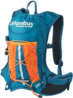 COLUMBUS IZKI 4lt con deposito de Agua 1,5lt Mochila, Adultos Unisex, Azul/Naranja/Negro (Multicolor), 4 l