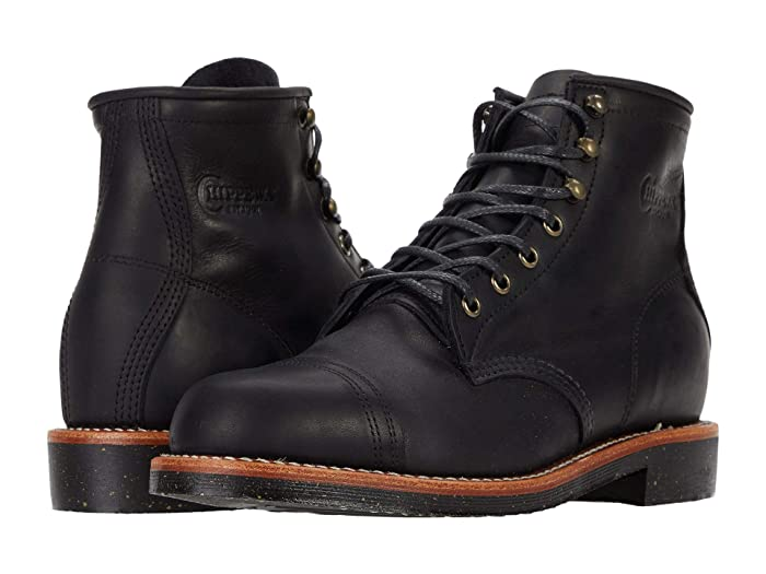 Men's Vintage Workwear Inspired Clothing Chippewa Brentwood Homestead Black Mens Boots $285.00 AT vintagedancer.com