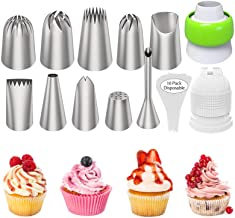 Ouddy Cake Decorating Icing Piping Tips Set, Extra Large Decorating Tips for Cupcake Cookies, 10 Stainless Steel Frosting ...