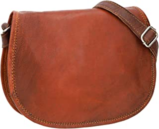 Gusti Handtasche Leder - Holly Umhängetasche Ledertasche Vintage Braun Leder