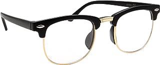 Kids Nerd Glasses Half Frame Clear Lens Geek Costume Children's (Age 3-8)