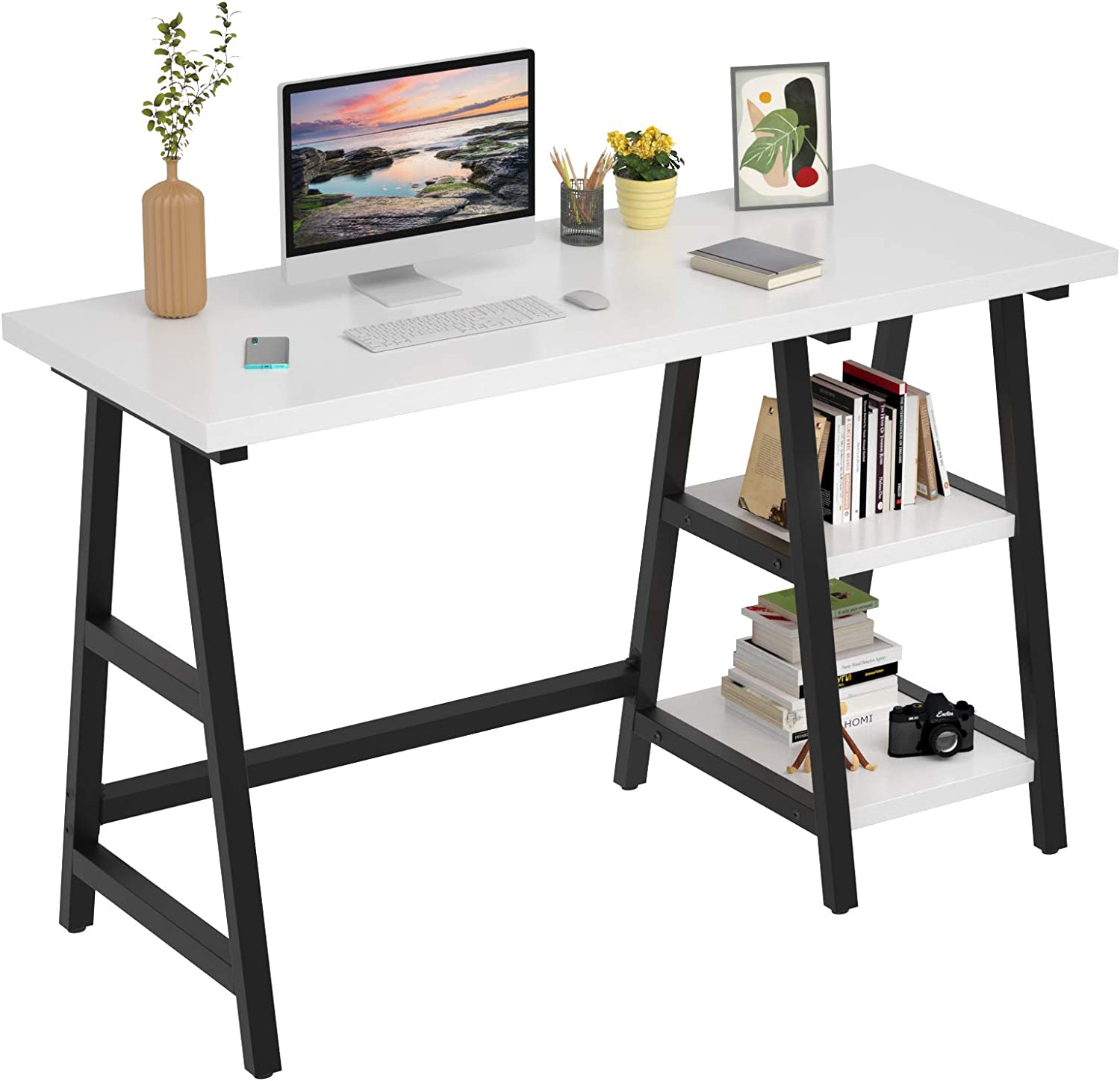 Foxemart Computer Desk 47 25% OFF Inch Office Home Study Writing lowest price Trestle