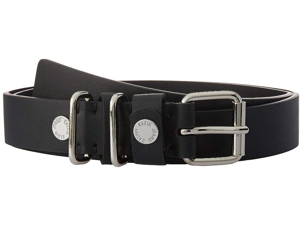 Calvin Klein - Calvin Klein 30 mm Flat Strap Belt with Multi Loop Snap Detail