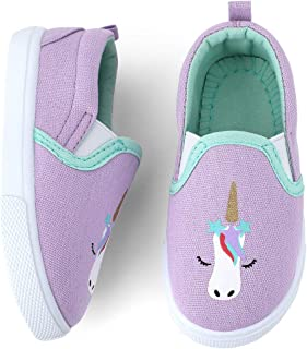 Toddler Kids Girls Shoes Slip On Canvas Sneakers