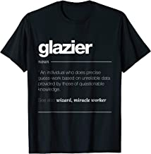 Glazier Definition T Shirt - Funny Glass Fitter Gift Tee