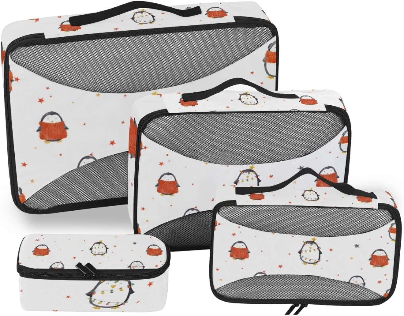 Baby Penguin Packing Cubes 4-Pcs Accessories Organizer St Limited price sale Travel Award