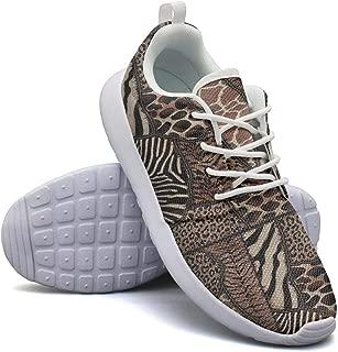 Leopard Cheetah Print Zebra Deer Dark Brown Sneakers for Womens Customize Non-Slip Running Shoes